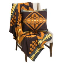 "Pendleton Diamond Desert Knit Throw Blanket - Superwashed Merino Wool, 50x60"" in Brown Multi - Closeouts"