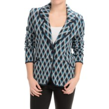 Pendleton Diamond Jacquard Print Jacket (For Women) in Black/Grey - Closeouts