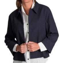 Pendleton Dianne Dot Swing Jacket (For Women) in Navy/White Dot - Closeouts