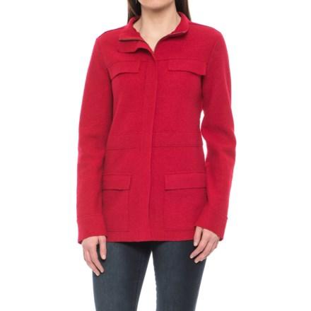 bda64d70571 Pendleton Distinction Military Jacket - Boiled Merino Wool (For Women) in  Tango Red -