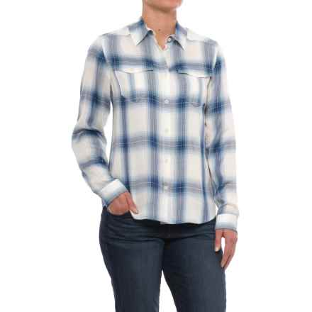 Pendleton Erin Soft Plaid Shirt - Long Sleeve (For Women) in Blue Ombre Plaid - Closeouts