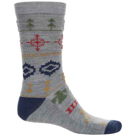 Pendleton Fair Isle Camp Sock - Merino Wool, Crew (For Men and Women) in 12 Grey - Closeouts