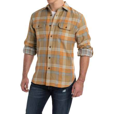 Pendleton Fairbanks Double Faced Plaid Shirt - Long Sleeve (For Men) in Brown Orange/Blue - Closeouts