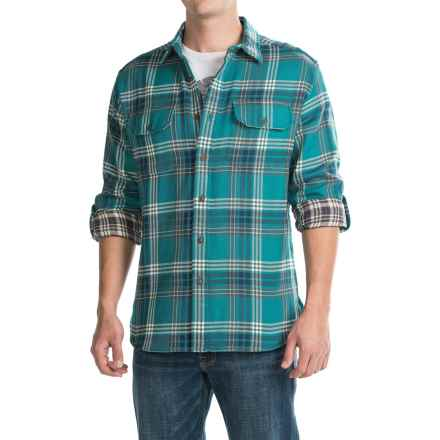 Pendleton Fairbanks Double Faced Plaid Shirt - Long Sleeve (For Men) in Turquoise Blue/Brown - Closeouts
