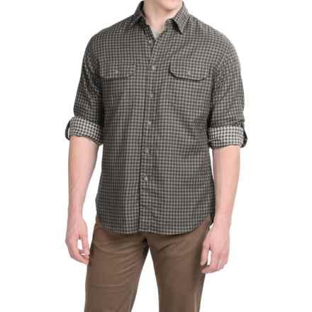 Pendleton Fairbanks Shirt - Long Sleeve (For Men) in Black/Grey Check - Closeouts