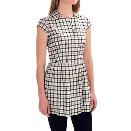 Pendleton Fit and Flare Tunic Shirt - Cotton, Short Sleeve (For Women) in Tattersal Check - Closeouts