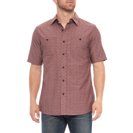 2bba59323b947 Pendleton Fitted Chambray Shirt - Short Sleeve (For Men) in Brick Red -  Overstock