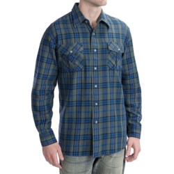 Pendleton Fitted Kingston Shirt - Cotton Twill, Long Sleeve (For Men) in Navy