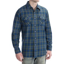 Pendleton Fitted Kingston Shirt - Long Sleeve (For Men) in Green - Closeouts