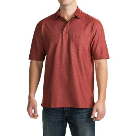 Pendleton Fitted Polo Shirt - Short Sleeve (For Men) in Brick Red - Closeouts