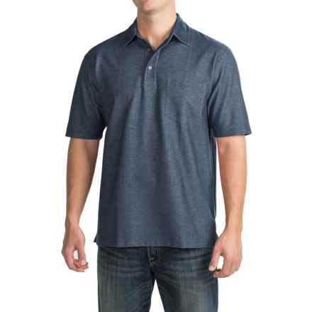 Pendleton Fitted Polo Shirt - Short Sleeve (For Men) in Denim Blue - Closeouts
