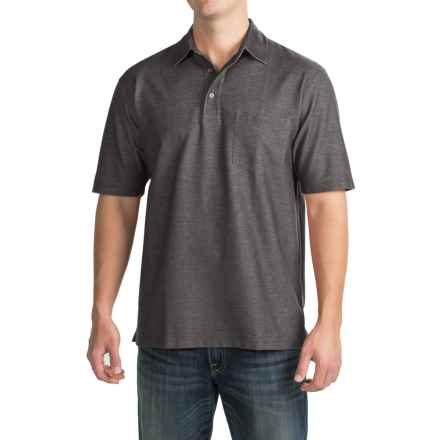 Pendleton Fitted Polo Shirt - Short Sleeve (For Men) in Iron Grey - Closeouts