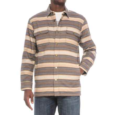 Pendleton Fleece-Lined Shirt Jacket (For Men) in Brown Stripes - Closeouts