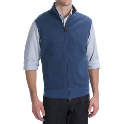 Pendleton French Rib Vest - Zip Front (For Men) in Bay Blue
