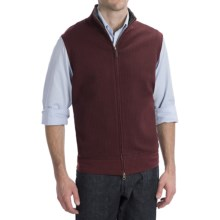 Pendleton French Rib Vest - Zip Front (For Men) in Burgundy - Closeouts