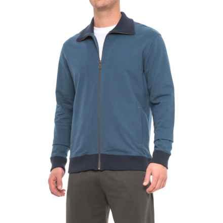 Pendleton French Terry Full-Zip Shirt - Long Sleeve (For Men) in Dark Indigo - Closeouts