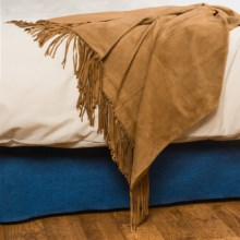 "Pendleton Fringed Suede Throw Blanket - 50x60"" in Camel - Closeouts"