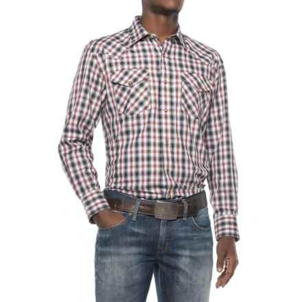 Pendleton Frontier Herringbone Western Shirt - Long Sleeve (For Men) in Black/Grey/Red Herringbone - Closeouts