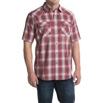 Pendleton Frontier Shirt - Snap Front, Short Sleeve (For Men) in Red Plaid