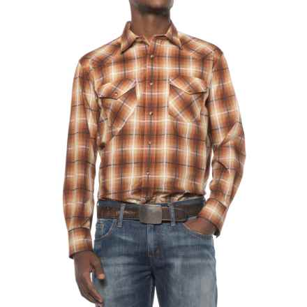 Pendleton Frontier Western Shirt - Snap Front, Long Sleeve (For Men) in Bronze Plaid - Closeouts