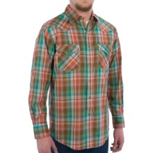 Pendleton Frontier Western Shirt - Snap Front, Long Sleeve (For Men) in Copper/Turquoise/Brown Ombre - Closeouts