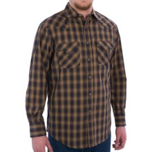 Pendleton Frontier Western Shirt - Snap Front, Long Sleeve (For Men) in Navy/Brown Ombre - Closeouts