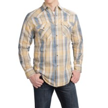 Pendleton Frontier Western Shirt - Snap Front, Long Sleeve (For Men) in Tan/Blue Plaid - Closeouts