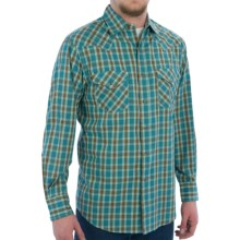 Pendleton Frontier Western Shirt - Snap Front, Long Sleeve (For Men) in Turquoise/Brown Plaid - Closeouts