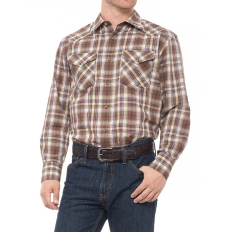 b55c2507 Pendleton Frontier Western Shirt - Snap Front, Long Sleeve (For Men) in  Yellow
