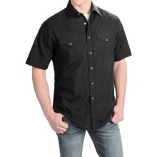 Pendleton Frontier Western Shirt - Snap Front, Short Sleeve (For Men) in Black - Closeouts