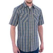 Pendleton Frontier Western Shirt - Snap Front, Short Sleeve (For Men) in Blue/Cream Ombre - Closeouts