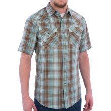Pendleton Frontier Western Shirt - Snap Front, Short Sleeve (For Men) in Turquoise/Brown Ombre - Closeouts