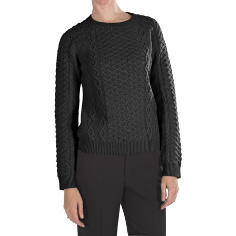 Pendleton Galway Lambswool Sweater (For Women) in Black