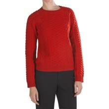 Pendleton Galway Lambswool Sweater (For Women) in Cherry Red - Closeouts