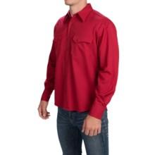 Pendleton Gambler Gabardine Wool Shirt - Button Front, Long Sleeve (For Men) in Red Gabardine - Closeouts