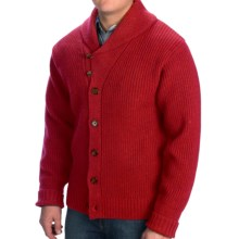 Pendleton Garthwick Shawl Cardigan Sweater - Lambswool (For Men) in Red - Closeouts
