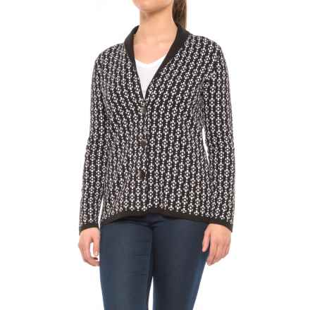 Pendleton Geo Cardigan Sweater (For Women) in Black/White - Closeouts