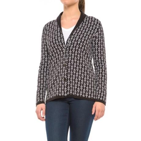 Pendleton Geo Cardigan Sweater (For Women) in Black/White