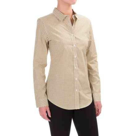 Pendleton Gingham Shirt - Long Sleeve (For Women) in Moss Green/White Gingham - Closeouts