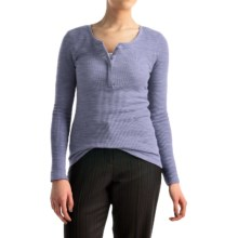 Pendleton Hannah Thermal Henley Shirt - Long Sleeve (For Women) in Faded Indigo - Closeouts