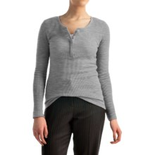 Pendleton Hannah Thermal Henley Shirt - Long Sleeve (For Women) in Soft Grey Heather - Closeouts