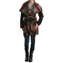 Pendleton Heritage Nez Aztec Blanket Coat - Wool (For Women) in Grey Harding - Overstock