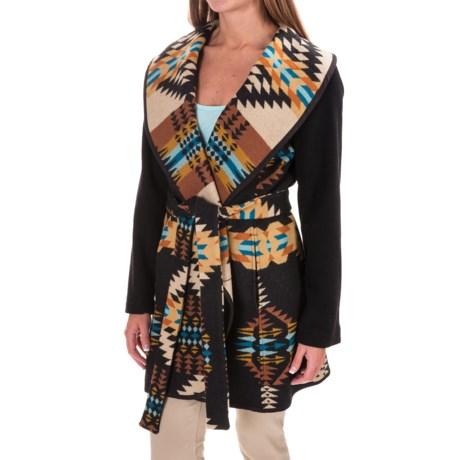 Pendleton Heritage Nez Aztec Blanket Coat - Wool (For Women) in Rancho Arr