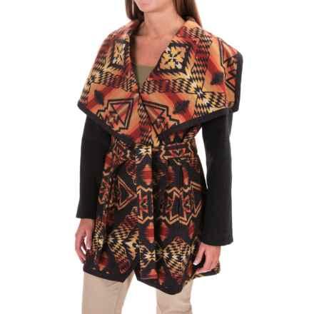 Pendleton Heritage Nez Aztec Blanket Coat - Wool (For Women) in Thunder - Overstock