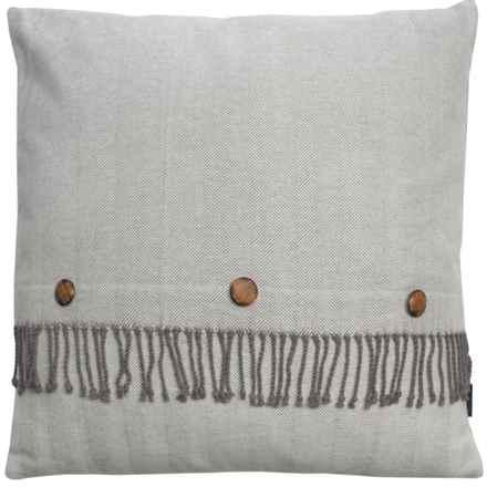 "Pendleton Herringbone Fringe Decor Pillow - 26x26"" in Grey - Closeouts"