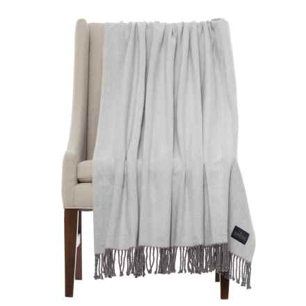 "Pendleton Herringbone Throw Blanket - 50x70"" in Grey - Closeouts"
