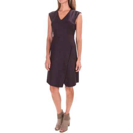 Pendleton Herringbone Wrap Dress - V-Neck, Sleeveless (For Women) in Red/Black - Closeouts