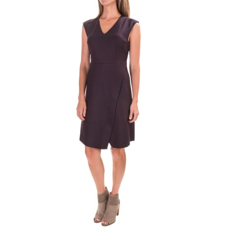 Pendleton Herringbone Wrap Dress - V-Neck, Sleeveless (For Women) in Red/Black