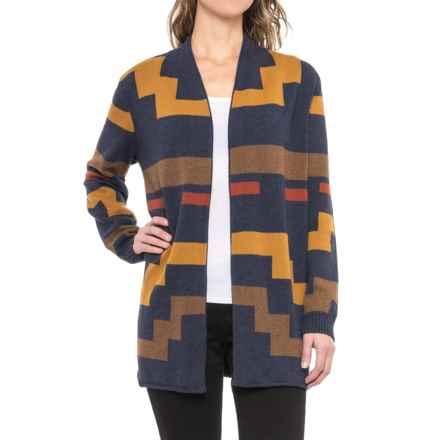 Pendleton Imnaha Cardigan Sweater (For Women) in Indigo/Brown Multi - Closeouts
