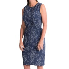 Pendleton Janis Rayon Crepe Printed Dress - Sleeveless (For Women) in Indigo Leaf - Closeouts
